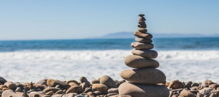 Stones on a beach