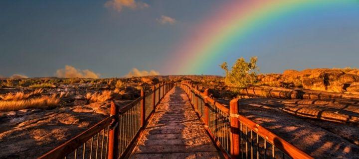 Path with rainbow